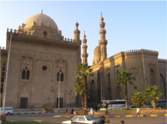 The mosque-madrasa (school) of Sultan Hassan AND El Rifaie mosque