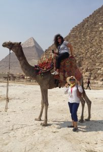 camel ride with a trusted camel driver